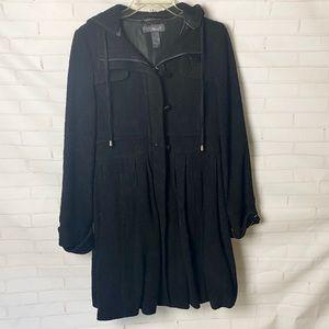 Wool-blend Skirted Coat